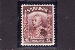 D3-Sarawak-Scott#117-Unused NH definitive-6c red brn-Sir Cha