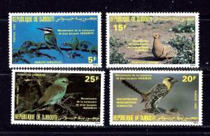 Djibouti 590-93 MNH 1985 Birds