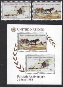 UN NY 447-49 MNH BIN $2.00