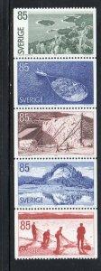 Sweden Sc 1166-70 1976 Angermanland stamp set mint NH