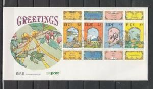 Ireland, Scott cat. 863a. Greetings, English issue. First day cover. ^