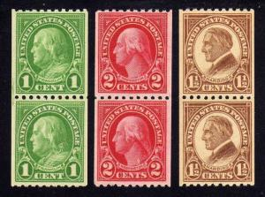 MALACK 604 - 606 F/VF OG NH, Nice Set of Pairs! (Stock Photo - You..MORE.. w2856