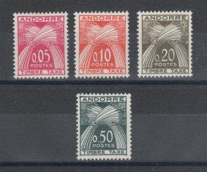Andorra, French Sc J42-J45 MNH. 1961 Postage Dues, cplt set, VF