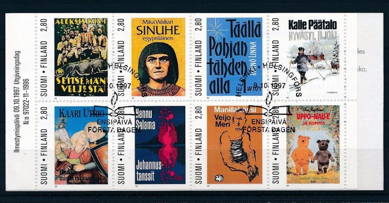 [30757] Finland  1997 Book covers  Used Booklet