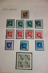 Spanish Morocco Tetuan Stamps 1908 Issues Lot of 16