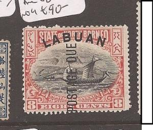 Labuan Post Due 8c Ship SG D6 MOG (4cap)