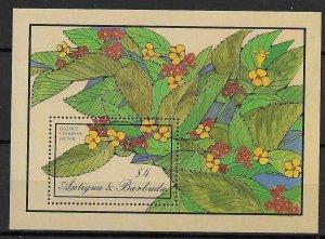 Antigua & Barbuda MNH S/S Flowers