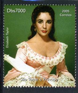 Sao Tome & Principe 2005 ELIZABETH TAYLOR set 1v Perforated Mint (NH)