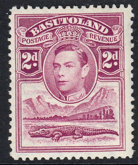 Basutoland KGVI 1938 2d Bright Purple SG21 Mint Very Lightly Hinged