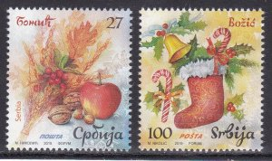 Serbia 2019 Celebrations Christmas Religions Christianity Fruits Flora Food MNH