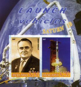 SPACE Saturn IB-Sergey Korolev Sheet Perforated Mint (NH)