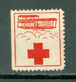 JAMAICA 1915 RED CROSS LABEL FOR HELPING JEWS in POLAND...TYPE 1...UNUSED