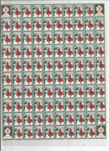 1935 CHRISTMAS SEAL, FULL SHEET