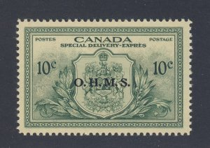 Canada S.D. OHMS Stamp #EO1-10c Peace Issue VF MNH Guide Value = $25.00
