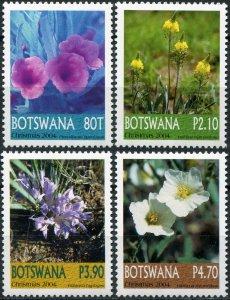 Botswana. 2004. Flowers (MNH OG) Set of 4 stamps