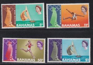 Bahamas # 276-279, Mexico City Summer Olympics, NH, 1/2 Cat.
