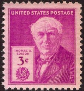 United States 945 - Mint-NH - 3c Thomas A. Edison (1947)