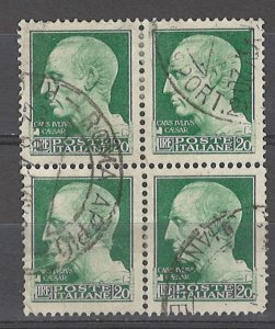 COLLECTION LOT # 4957 ITALY #229 WMK 140 1929 BLOCK OF 4 CV+$48