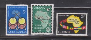 GHANA Scott # 92-4 Mint NH - Africa Freedom Day 1961