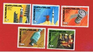 Central Africa #251-252 #C135-137   VF used  Apollo-Soyuz  Free S/H