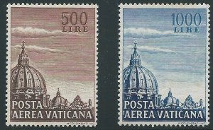 Vatican City, 1953, Scott #C22-23 mint, never hinged, very fine centering