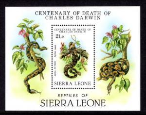 Sierra Leone 575 Snakes Souvenir Sheet MNH VF