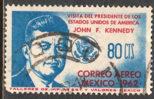 MEXICO C262, Visit of Pres John F. Kennedy (World's 1st JFK) USED. VF. (1076)