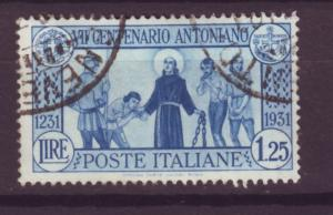 J13954 JLstamps 1931 italy used #262 st anthony