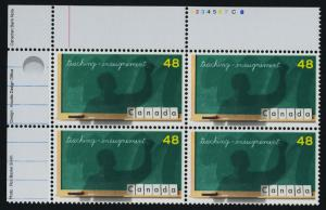 Canada 1961 TL Plate Block MNH United Nations Teacher's Day