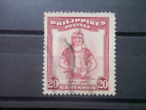 PHILIPPINES, 1955, used 20c, Lapu Scott 597