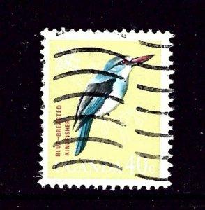 Uganda 102 Used 1965 Bird     (P105)