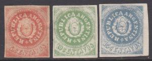 ARGENTINA  3 old forgeries of this classic issue............................5416