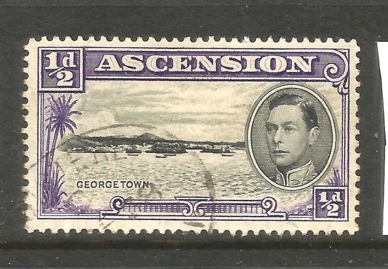 ASCENSION 1938 1/2d  KGVI  PICTORIAL  FU  SG 38
