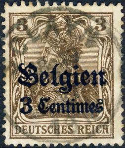 BELGIQUE / Deutsche Besetzung Belgien - 1916 - Mi.1 Used  SCLAYN  (Prov NAMUR)
