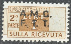 DYNAMITE Stamps: Trieste Stamp Scott #Q1 – UNUSED