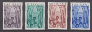 Surinam Sc B58-B61 MLH. 1954 Native Children cplt F-VF