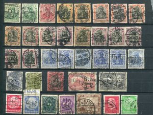 Germany early Perfins all different F-VF  -  Lakeshore Phila...