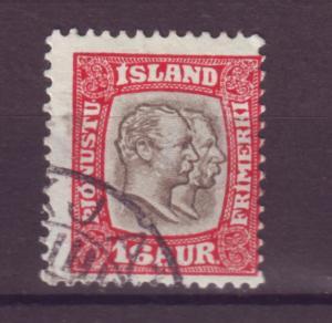 J18058 JLstamps 1907 iceland used #o36 official