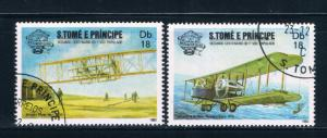 Saint Thomas and Prince Is 701a-b Used Bi-planes (GI0429)+