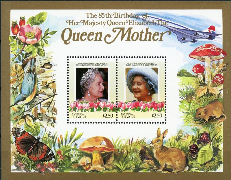 Nanumaga #50-51 Queen Mother 85th Birthday MNH