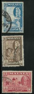 Malaya Kelantan 75, 77-78 Used F-VF