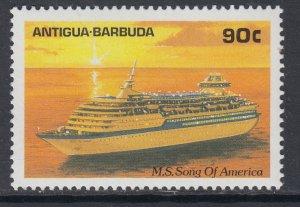 Antigua 1192 Ship MNH VF