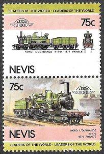 Nevis SC 203a-203b * Locomotive * MNH * 1985