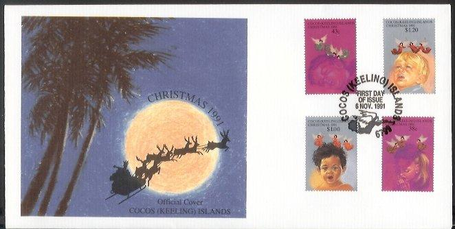 Cocos Is - 1991 Christmas (FDC)