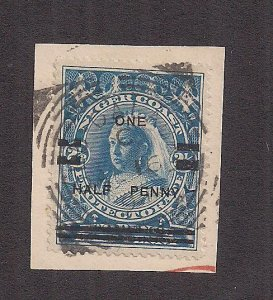 NIGER COAST PROT. SC# 54 ON PIECE OLD CALABAR CANCEL  VF/U
