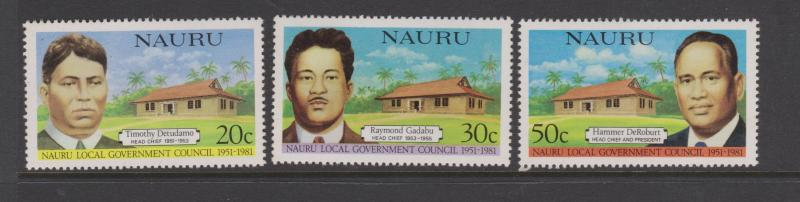 Nauru 1981Local Government Council Sc#224-226 MNH