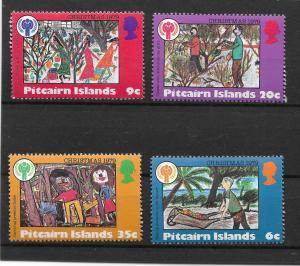 PITCAIRN ISLANDS MNH SET SC#188-191 IYC EMBLEMS SCV$1.70