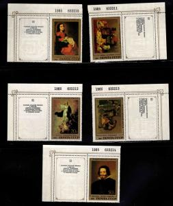 Russia Scott 5335-5339 MNH** set with labels and plate numbers