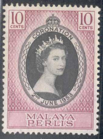 Malaya - Perlis ~ #28 ~ Coronation ~ MNH