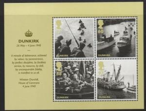 Great Britain Sc 2806a 2010 Dunkirk stamp sheet mint NH